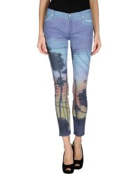 7 For All Mankind Denim Trousers - Lyst