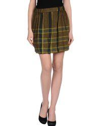 Burberry Brit Mini Skirt - Lyst