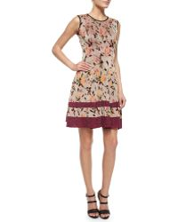 Missoni Floral Shimmer Jacquard Fit-And-Flare Dress floral - Lyst