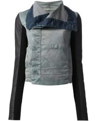 DRKSHDW by Rick Owens Denim Biker Jacket - Lyst