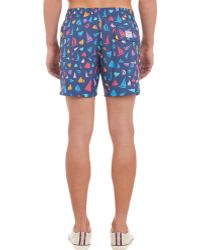 Limoland - Sailboat-Pattern Swim Trunks - Lyst