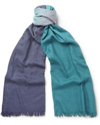 Paul Smith Ombrã Wool and Silk-blend Scarf - Lyst
