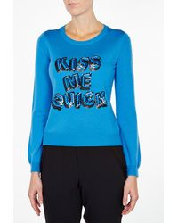 Markus Lupfer Kiss Me Quick Sequin Jumper - Lyst