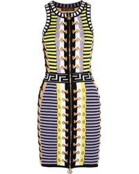 Versace Stretch-knit Mini Dress - Lyst