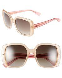 Dior Women'S 'Jupon' 54Mm Sunglasses - Opal Peach - Lyst