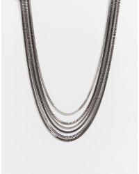 Lipsy - Fleur East By Multirow Box Chain Necklace - Lyst
