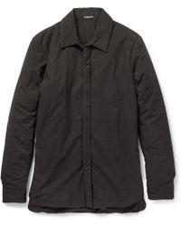 Ann Demeulemeester Padded Cotton Shirt - Lyst