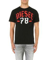 Diesel Tlonad Cottonjersey Tshirt Black - Lyst