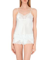 Nk Imode - Morgan Stretch-lace And Silk-satin Camisole - Lyst