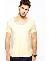 Asos Tshirt with Bound Scoop Neck - Lyst