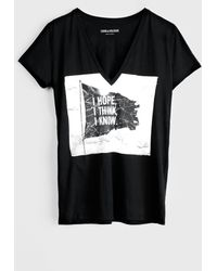 Zadig & Voltaire T Shirt Sexy Print - Lyst
