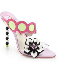 a247c937b59 Sophia Webster - Amazona Bead-Heel Leather Mule Sandals - Lyst