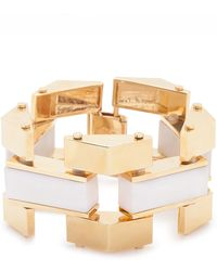 Lele Sadoughi Sandbar Bracelet In Sand gold - Lyst