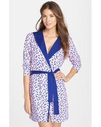 Jane & Bleecker New York Hooded Print Jersey Robe - Lyst