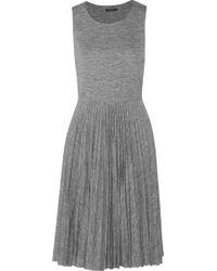Theory Viallen Pleated Jersey Dress - Lyst