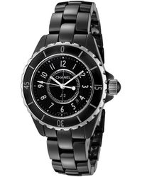 Chanel | Women's J12 Black Ceramic And Dial | Lyst