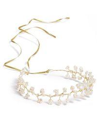 Nestina Accessories | Freshwater Pearls Bridal Head Piece - Metallic | Lyst