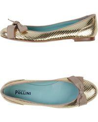 Studio Pollini Patent Leather Bow-Detail Ballet Flats - Lyst