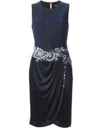 Versace Python Print Baroque Dress - Lyst