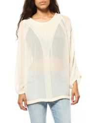 IRO Oprah 3/4 Sleeve Blouse beige - Lyst