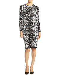 A.L.C. Smith Leopard Knit Dress - Lyst