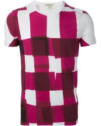 Burberry Brit Checked T-Shirt - Lyst