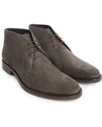 M.studio Desert Boots Antoine Gris Cuir Suede gray - Lyst