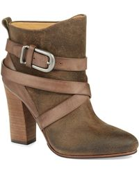 Belle By Sigerson Morrison Floria Strappy Ankle Boots - Lyst