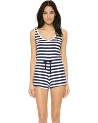 Solid & Striped - The Romper - Navy & White Stripe - Lyst
