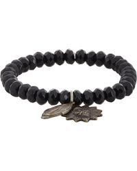 Miracle Icons Onyx Charm Bracelet - Lyst