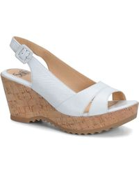 Söfft Savina Leather Wedge Sandals - Lyst