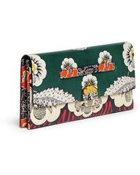 Valentino Floral Print Leather Oversize Clutch multicolor - Lyst