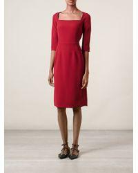 Dolce & Gabbana Cut Out Neckline Dress - Lyst
