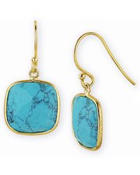 Argento Vivo Cushion Drop Earrings - Lyst