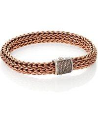 John Hardy Classic Chain Bronze Silver Bracelet - Lyst
