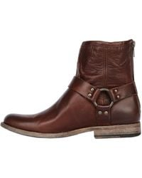 Frye Phillip Harness Leather Boots - Lyst