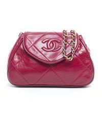 Chanel Preowned Vintage Lambskin Shoulder Bag - Lyst