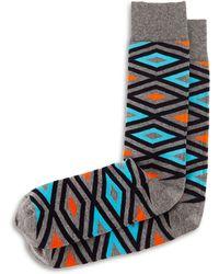 Jonathan Adler - Diamond-print Knit Socks - Lyst