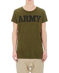 NLST - Men's Army T-shirt - Lyst