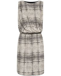 Mango Chiffon Printed Dress - Lyst