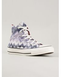 Converse X Missoni 'Chuck Taylor All Star' Sneakers - Lyst