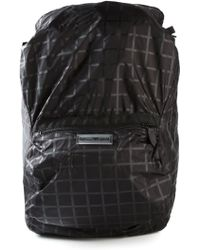 Emporio Armani Checked Backpack - Lyst