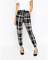 ASOS | Mono Check Peg Trouser | Lyst