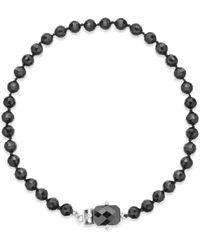 Lauren by Ralph Lauren Silver-tone Jet Bead Collar Necklace - Lyst