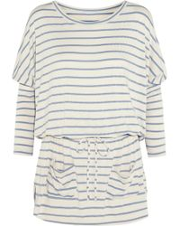 Eberjey Lounge Stripes Jersey Nightdress - Lyst
