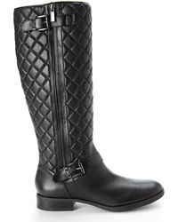 Vince Camuto Black Fredrica Tall Boots - Lyst