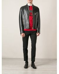 Versace Classic Leather Jacket - Lyst
