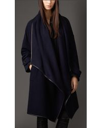 Burberry Cashmere Wrap Coat - Lyst