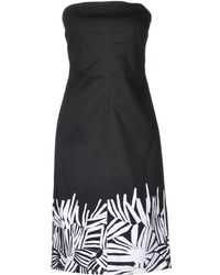 Max Mara Studio Black Short Dress - Lyst