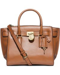 Michael by Michael Kors Hamilton Leather Medium Traveler Tote Bag - Lyst